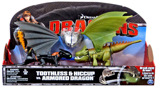 How to Train Your Dragon Dragons Toothless & Hiccup vs Armored Dragon Action Figure 3-Pack