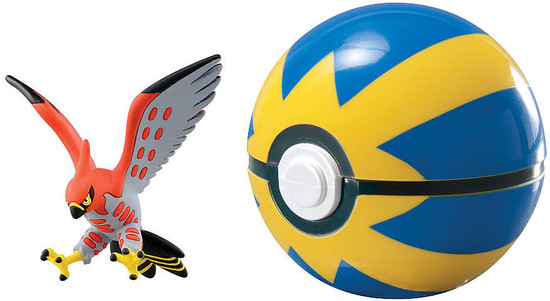 Pokemon Clip n Carry Pokeball Talonflame with Quick Ball Figure Set