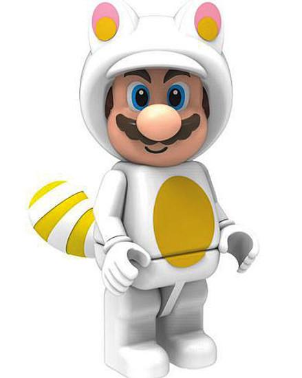 K'NEX Super Mario White Tanooki Mario Minifigure [Mario 3D Land Loose]