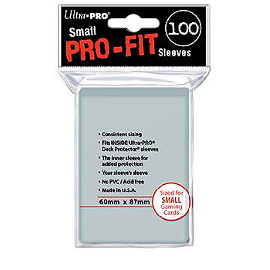 Ultra Pro Card Supplies Pro-Fit Clear Small Card Sleeves [100 Count Pro-Fit] (Pre-Order ships January)