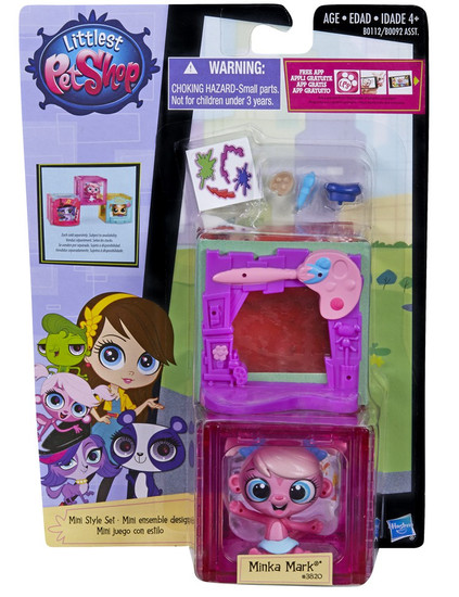 Littlest Pet Shop Mini Style Set Minka Mark Figure #3820