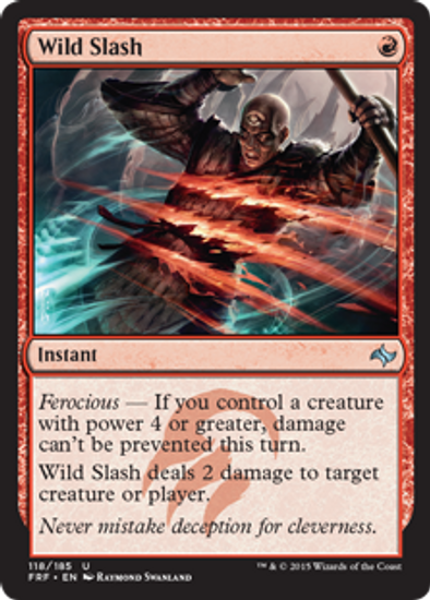 MtG Fate Reforged Uncommon Wild Slash #118