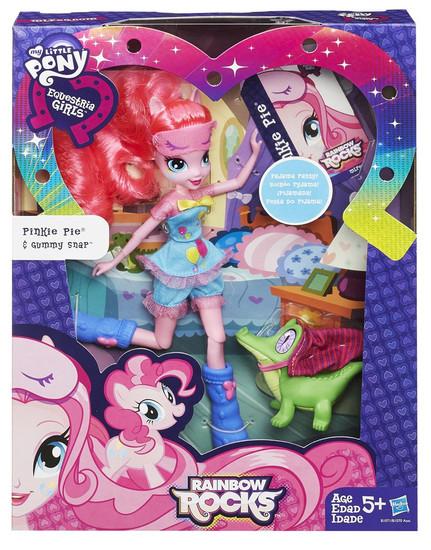 My Little Pony Equestria Girls Rainbow Rocks Pinkie Pie & Gummy Snap Doll Set