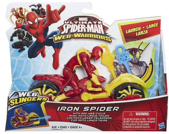 Ultimate Spider-Man Web-Warriors Web Slingers Iron Spider [With Arc Web Cycle]