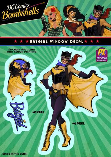 DC Bombshells Batgirl Exclusive Vinyl Window Decal