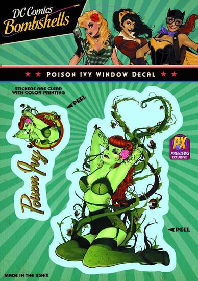 DC Bombshells Poison Ivy Exclusive Vinyl Window Decal