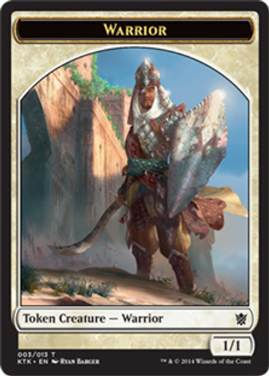 MtG Khans of Tarkir Warrior Token