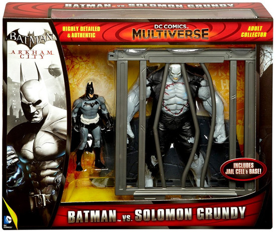 Arkham City DC Comics Multiverse Batman vs Solomon Grundy Action Figure 2-Pack