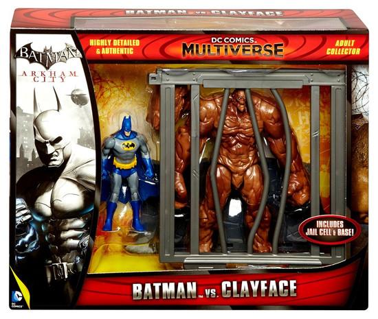 Arkham City DC Comics Multiverse Batman vs Clayface Action Figure 2-Pack