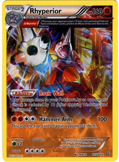 Pokemon X & Y Primal Clash Rare Holo Rhyperior #77
