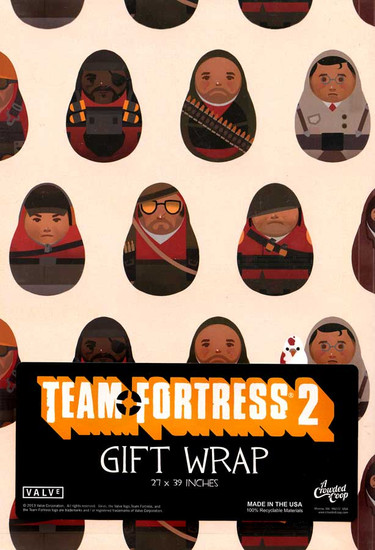 Team Fortress 2 Gift Wrap [27 X 39 Inches]