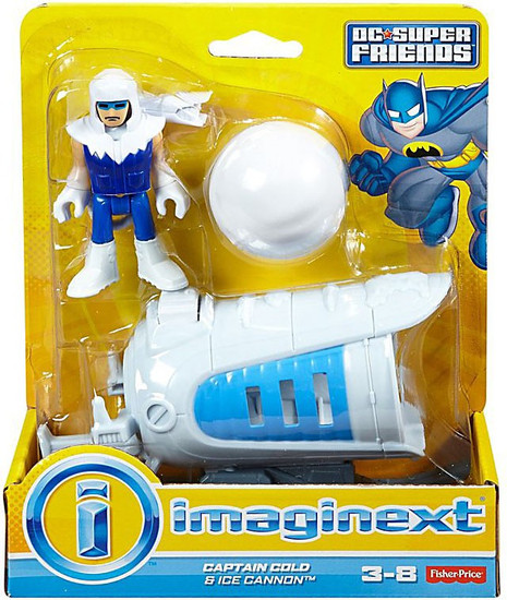 Fisher Price DC Super Friends Imaginext Captain Cold & Ice Cannon 3-Inch Figure Set