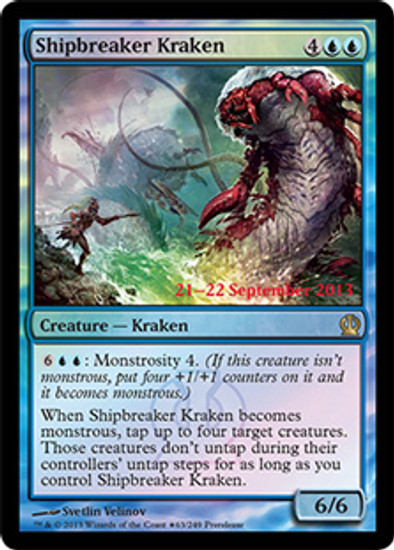 MtG Prerelease & Release Promo Shipbreaker Kraken [Theros Prerelease]