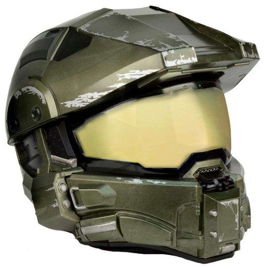 NECA Halo Master Chief's Motorcycle Helmet Roleplay Toy [Medium (57-58cm)]