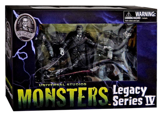 Universal Monsters Black & White Set #4 Action Figures [Quasimodo, Mole Person & Jekyll/Hyde]