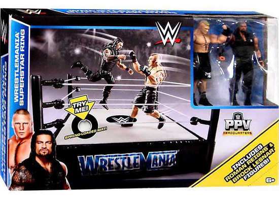 WWE Wrestling PPV Headquarters Wrestlemania Superstar Ring Exclusive Playset [Roman Reigns & Brock Lesnar]