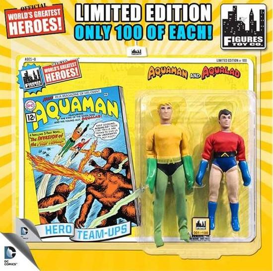 DC World's Greatest Super Heroes Retro Two-Pack Series 3 Aquaman & Aqualad Retro Action Figures