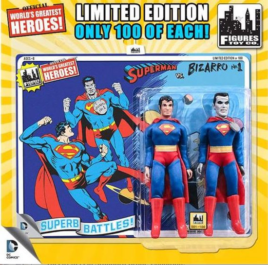 DC World's Greatest Super Heroes Retro Two-Pack Series 3 Superman & Bizarro Retro Action Figures