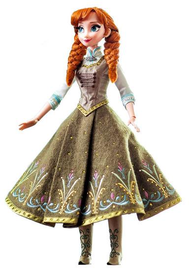 Disney Frozen Anna 17-Inch Doll [Green Dress]