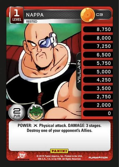 Dragon Ball Z CCG Heroes & Villains Common Nappa, Rested C3