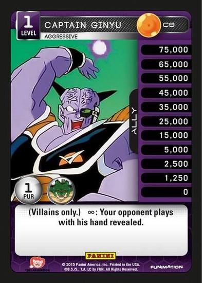 Dragon Ball Z Heroes & Villains Common Captain Ginyu, Aggressive C9