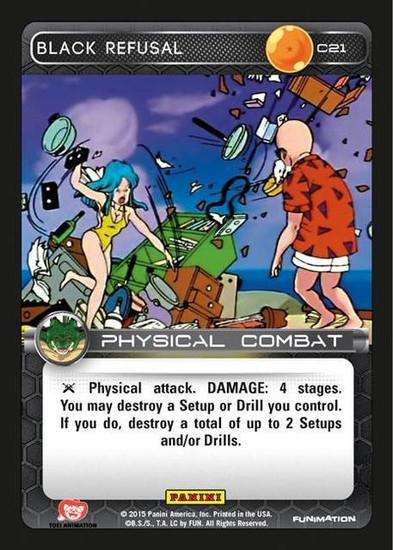 Dragon Ball Z Heroes & Villains Common Black Refusal C21