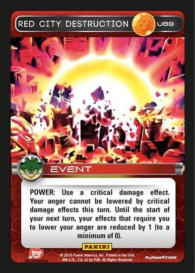 Dragon Ball Z Heroes & Villains Uncommon Red City Destruction U89