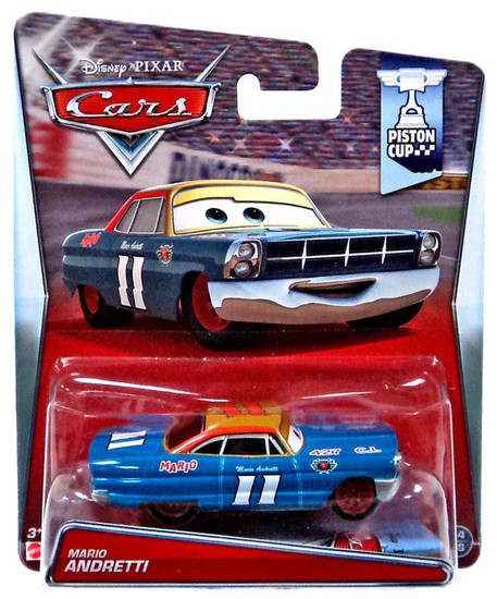 Disney / Pixar Cars Piston Cup Mario Andretti Diecast Car #14/18