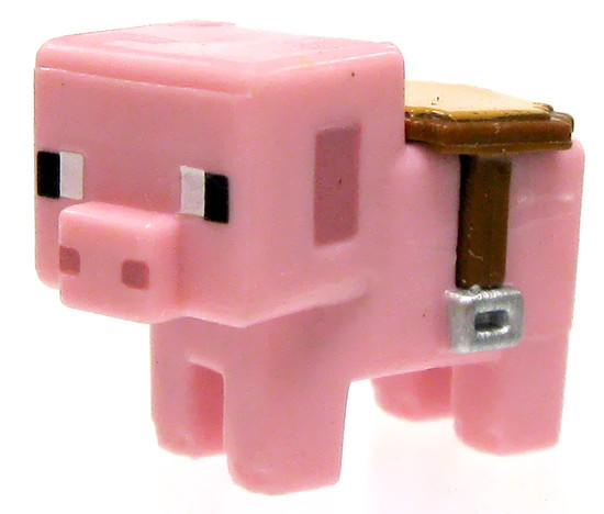 Minecraft Stone Series 2 Saddled Pig 1-Inch Mini Figure [Loose]