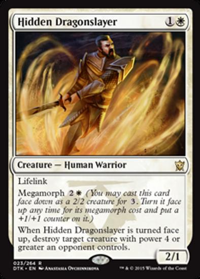 MtG Dragons of Tarkir Rare Hidden Dragonslayer #23