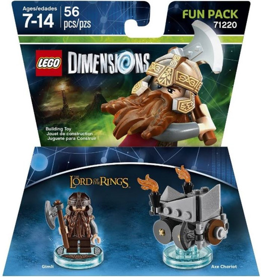 LEGO Dimensions Lord of the Rings Gimli & Axe Chariot Fun Pack #71220