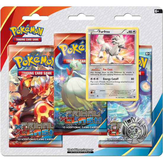 Pokemon Trading Card Game XY Primal Clash Furfrou Special Edition [3 Booster Packs & Promo Card]