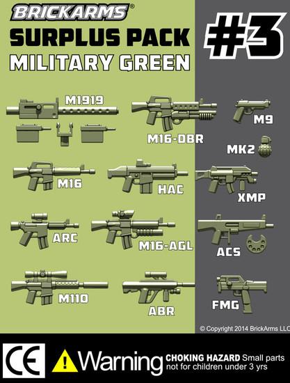 BrickArms Custom Surplus Pack #3 2.5-Inch Weapons Pack [13 Piece]