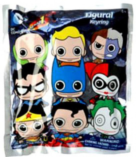 3D Figural Keyring DC Series 1 Mystery Pack [1 RANDOM Figure]