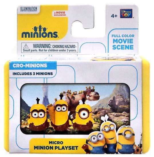 Despicable Me Minions Movie Cro-Minions 2-Inch Micro Playset