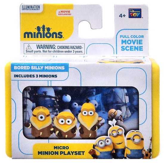 Despicable Me Minions Movie Bored Silly Minions 2-Inch Micro Playset