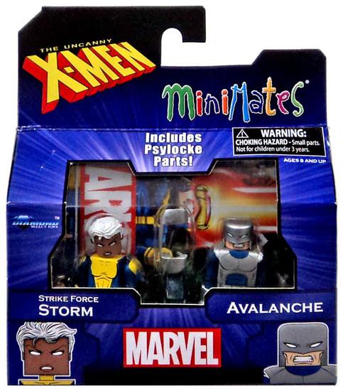 Marvel X-Men Vs. Brotherhood Minimates Series 60 Strike Force Storm & Avalanche Minifigure 2-Pack