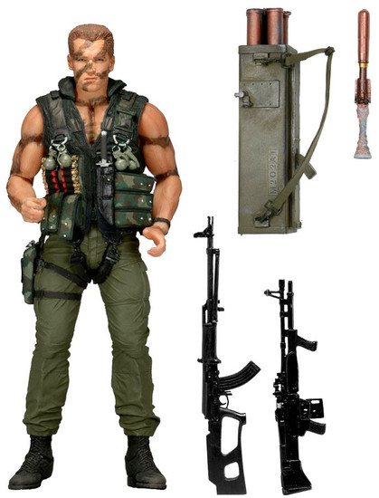 NECA 30th Anniversary Commando Action Figure [Ultimate John Matrix ]