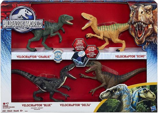 Jurassic World Velociraptor Charlie, Delta, Echo & Blue Exclusive Action Figure 4-Pack