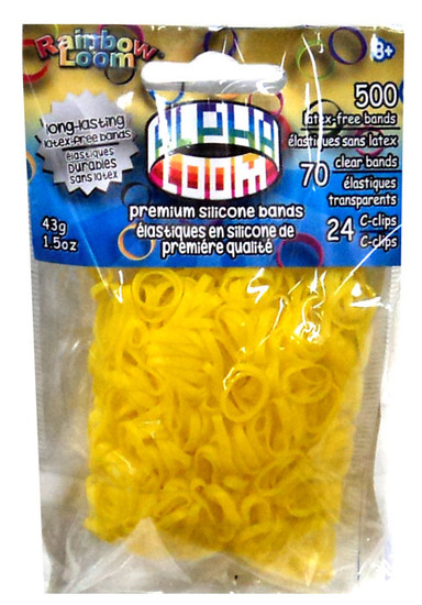 Rainbow Loom Alpha Loom Yellow Rubber Bands Refill Pack [500 Count]