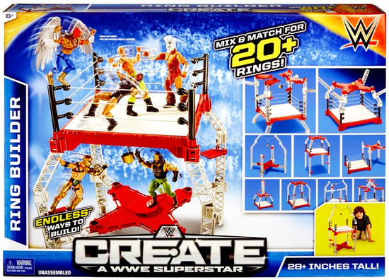 WWE Wrestling Create A WWE Superstar Ring Builder Playset
