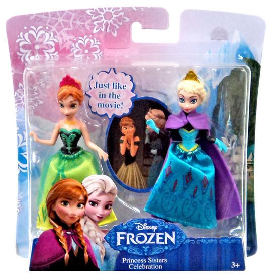 Disney Frozen Princess Sisters Celebration 3.75-Inch Mini Figure 2-Pack [Anna & Elsa]
