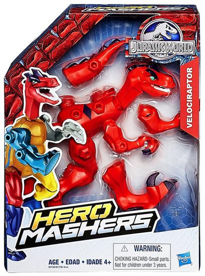 Jurassic World Hero Mashers Velociraptor Action Figure [Red]