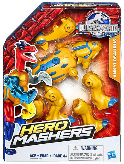 Jurassic World Hero Mashers Ankylosaurus Action Figure