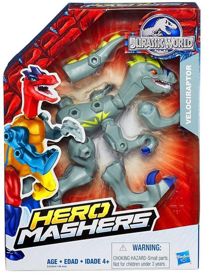 Jurassic World Hero Mashers Velociraptor Action Figure [Gray]