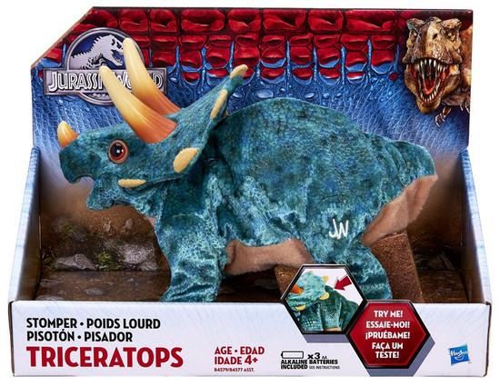 Jurassic World Stomper TRICERATOPS Deluxe Plush