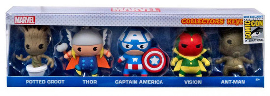 3D Figural Keyring Marvel Exclusive Collector 5-Pack