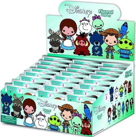 3D Figural Keyring Disney Series 5 Mystery Box [24 Packs]