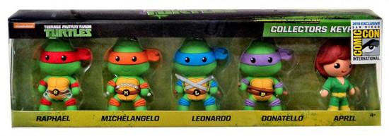 Teenage Mutant Ninja Turtles 3D Figural Keyring TMNT Exclusive 2-Inch Collector 5-Pack
