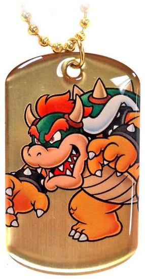 Super Mario Gold Chase 2D Bowser Dog Tag G3 [Loose]